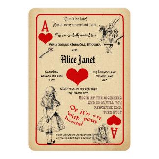 Alice i underlandinbjudningskort för möhippan 12,7 x 17,8 cm inbjudningskort