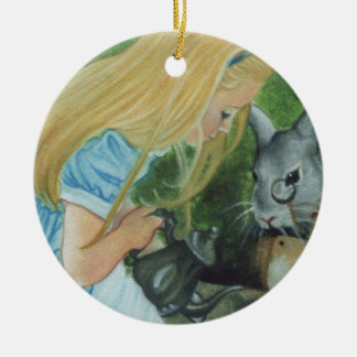 Alice i underlandjulprydnad julgransprydnad keramik