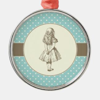 Alice i underlandpolka dots julgransprydnad metall