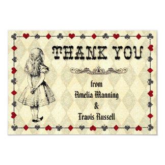 Alice i underlandtackkortet - bröllop 8,9 x 12,7 cm inbjudningskort