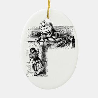 Alice i Wondlerand, Humpty Dumpty med Alice Julgransprydnad Keramik