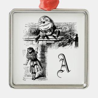 Alice i Wondlerand, Humpty Dumpty med Alice Julgransprydnad Metall