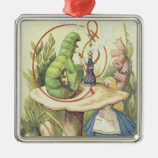 Alice möter Caterpillar Julgransprydnad Metall
