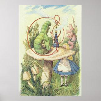 Alice möter Caterpillar Poster