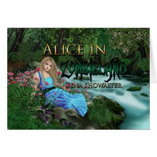 Alice noterar kort