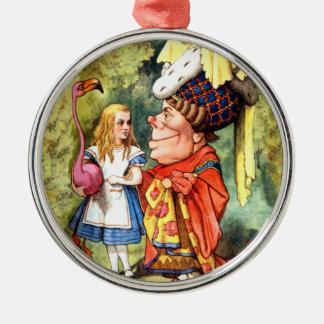 Alice och croqueten för hertiginnalekFlamingo Julgransprydnad Metall