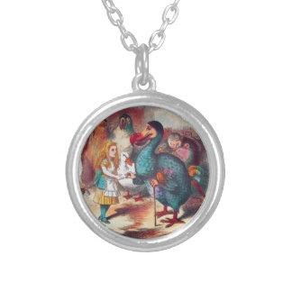 Alice och Dodo i underland Lewis Caroll Tenniel Halsband Med Rund Hängsmycke