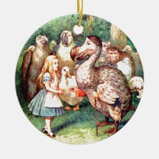 Alice och Dodofågeln i underland Julgransprydnad Keramik