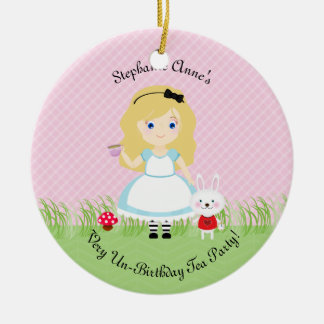 Alice och henne Teaparty Julgransprydnad Keramik