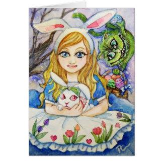 Alice och påskhare OBS kort