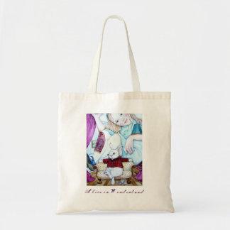 Alice och vitkaninen tygkasse