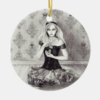 Alice prydnad Alice i underlandprydnad Julgransprydnad Keramik