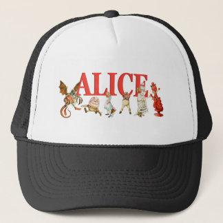 Alice till och med det tittar exponeringsglaset keps