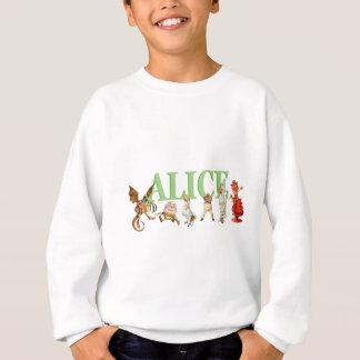Alice till och med det tittar exponeringsglaset tröjor