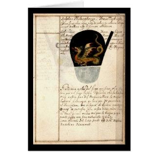 Alkemianteckningsboken av Johann Grasshoff 1620 Hälsningskort