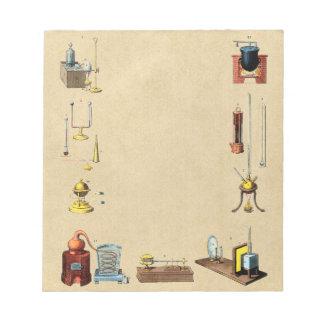 Alkemilaboratoriumverktyg för det underbara anteckningsblock