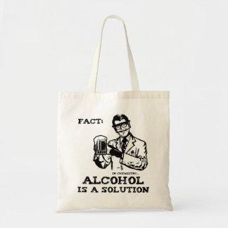 Alkohol är en lösning i Retro kemi Budget Tygkasse