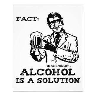 Alkohol är en lösning i Retro kemi Flygblad