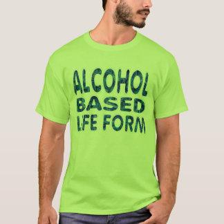 Alkohol baserade Lifeform som dricker skjortan T-shirt