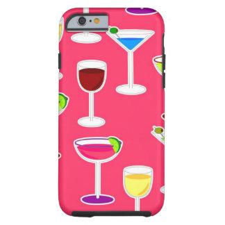 Alkoholiserad dryckcocktailparty - rosa tough iPhone 6 fodral