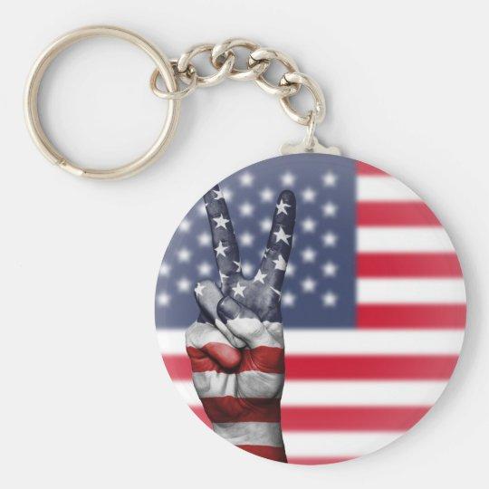 All amerikan rund nyckelring