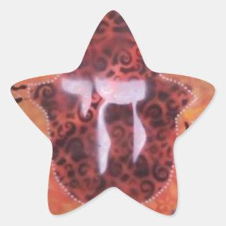 All Chai'd upp - fjädra in i säsong! Stjärnformat Klistermärke