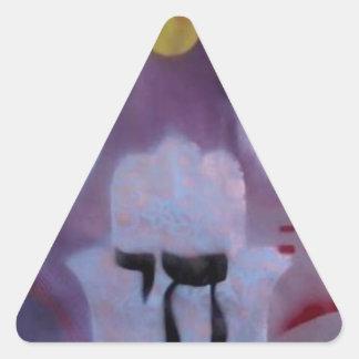 All Chai'd upp - morgonduva av glädje! Triangelformat Klistermärke