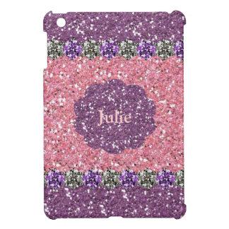 All för lilaglitter för flicka rosa personlig för  iPad mini skal