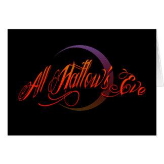 All Hallows kväll Hälsningskort