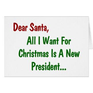 All kära Santa som jag önskar för julafton, är en Hälsningskort