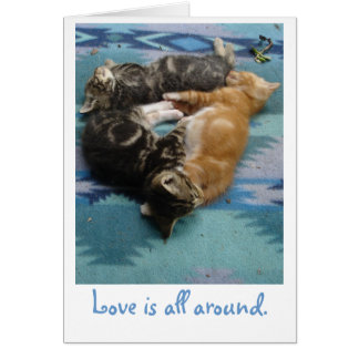 All kärlek är omkring hälsningskort