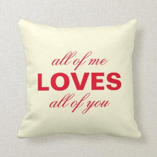 """""""All mig alla kärlekar av dig"""" personligkräm Kudde"""