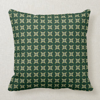 All över gröna stjärnor kudde
