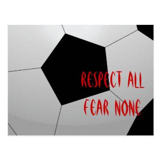 All respekt, skräck inga fotbollboll vykort