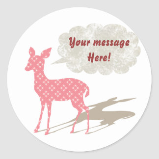 All rosa Bambi - ämna den beställnings- klistermär