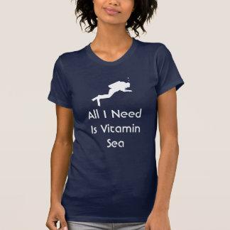 All scubaen som jag behöver, är vitaminhavet t shirts