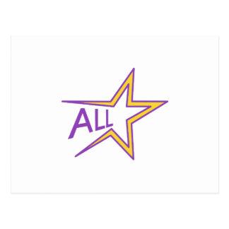 All stjärna vykort
