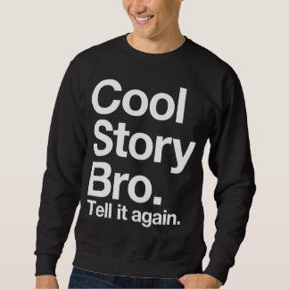 (all vittext) den kalla berättelsen Bro. Berätta Lång Ärmad Tröja