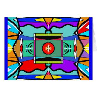 Alla abstrakt Jazzy - ämna kortet Hälsningskort