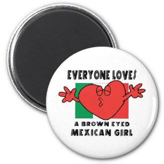 Alla älskar en mexicansk flicka magnet