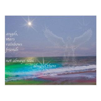 Alla behöver vänner och änglar, vykort
