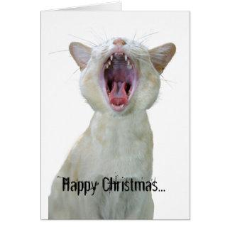 Alla den lyckliga julen till kyler katter ut där! hälsningskort