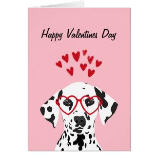 Alla hjärtans dag - Dalmatian hundkort Hälsningskort