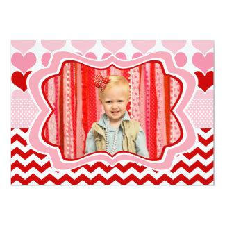 Alla hjärtans dagfotokort 12,7 x 17,8 cm inbjudningskort