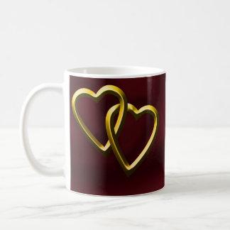 Alla hjärtans daghjärtor kaffemugg