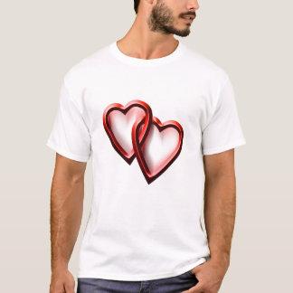 Alla hjärtans daghjärtor tee shirts
