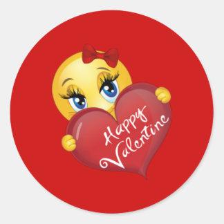 Alla hjärtans dagklistermärkear runt klistermärke