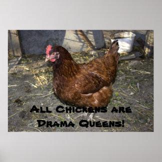 Alla hönor är dramadrottningar! poster