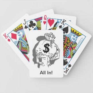 Alla, i att leka kort spelkort