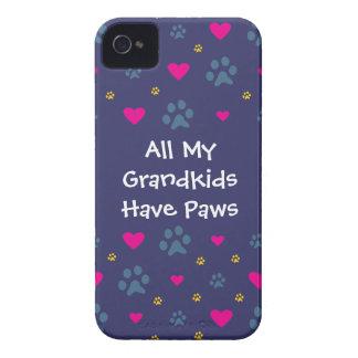 Alla min Barnbarn-Barnbarn har tassar Case-Mate iPhone 4 Skydd